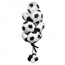 Фонтан из футбольных мячей – воздушных шаров