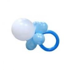 Голубая соска из воздушных шаров