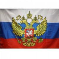 Флаг России с гербом (без флагштока) 70*105