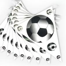 Гирлянда флажки Футбольный мяч, 300 см