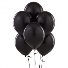 Набор из 5 черных воздушных шаров одного размера