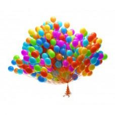 Набор из 100 разноцветных воздушных шаров одного размера