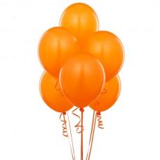 Набор из 5 оранжевых воздушных шаров одного размера