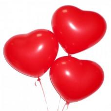 Набор из 3 красных латексных сердца