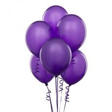 Набор из 5 фиолетовых шаров одного размера