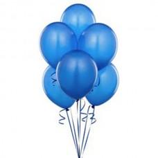 Набор из 5 синих воздушных шаров одного размера