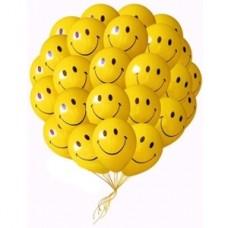 Набор из 25 желтых воздушных шаров смайликов