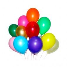 Набор из 12 разноцветных воздушных шаров