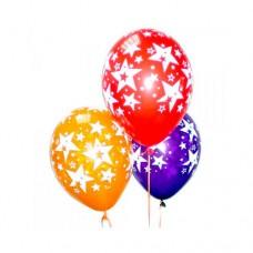 Набор из 3 разноцветных шаров из латекса с рисунком звезд