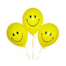 Набор из 3 желтых воздушных шаров смайликов