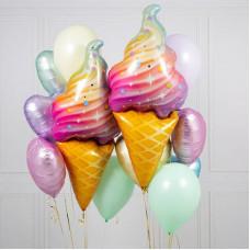 Композиция из шаров Радужное мороженое