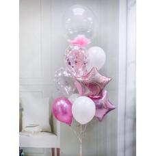 Фонтан из шаров Розовое вдохновение