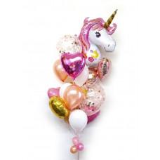 Фонтан из шаров Розовый Единорог