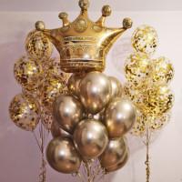 Композиция из шаров Золотая корона