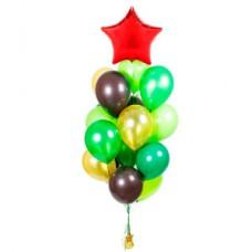 Фонтан хаки со звездой из воздушных шаров,9 мая,