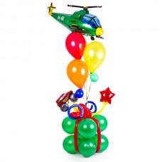 Подарок мальчику с вертолетом из воздушных шаров