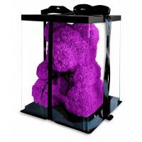 Медведь из фиолетовых роз 40 см