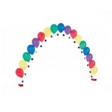 Цепочка с разноцветными шариками и подвесками-звездами