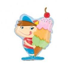 Гелиевый шар Мальчик с мороженным