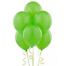 Набор из 5 зеленых воздушных шаров одного размера