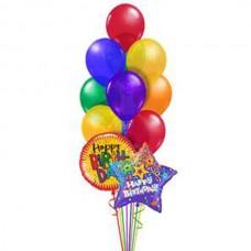 Набор из 2 шаров из фольги – круг и звезда и 9 латексных воздушных шаров одного размера