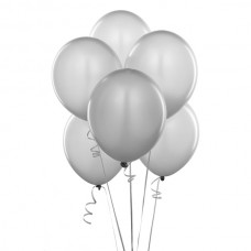 Набор из 5 серых воздушных шаров одного размера
