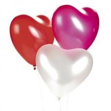 Набор из 3 разноцветных латексных сердца