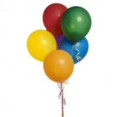 Набор из 5 латексных разноцветных воздушных шаров