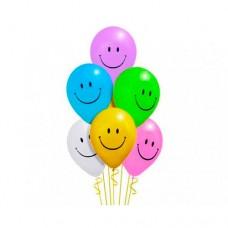 Набор из 7 разноцветных воздушных шаров смайликов