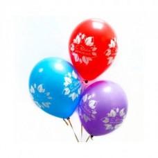 """Набор из 3 разноцветных шаров """" С днём рождения"""""""